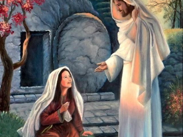 Magdalai Mária találkozása a feltámadt Jézus Krisztussal 80×50 cm